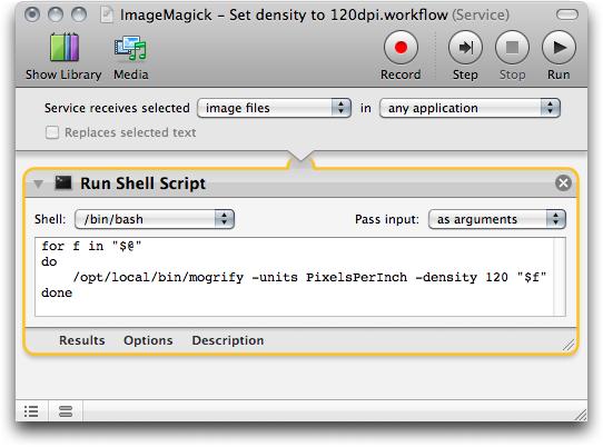 ImageMagick workflow service