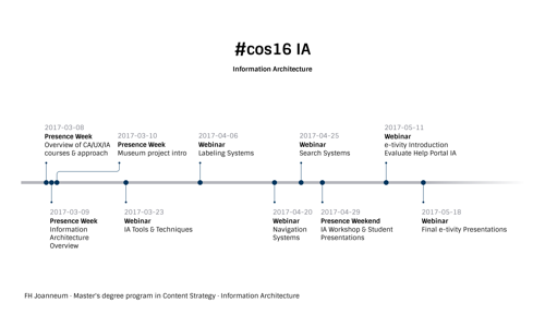 Information Architecture course timeline