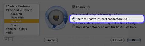 VMware NAT settings